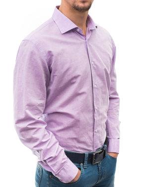 Вталена риза от памук и лен