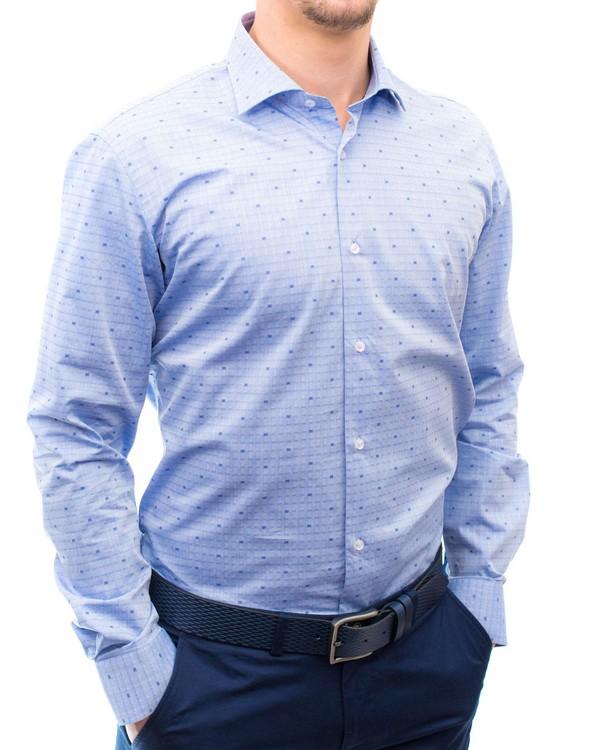 Ефектна жакардова вталена риза