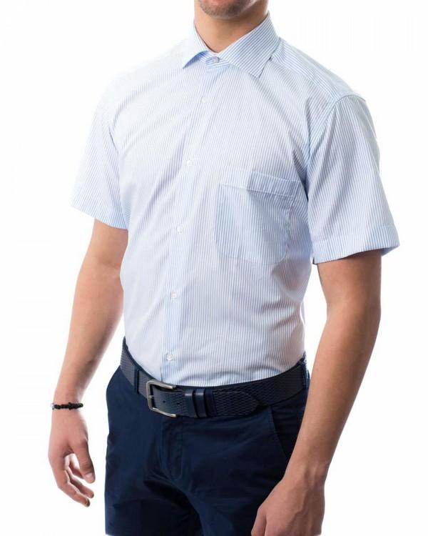 Риза къс ръкав в райе