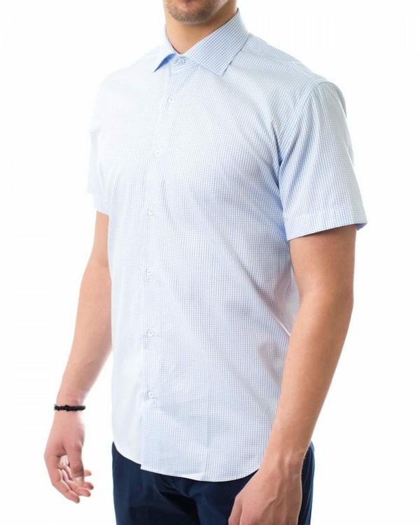 Памучна риза в ситно каре - базов модел